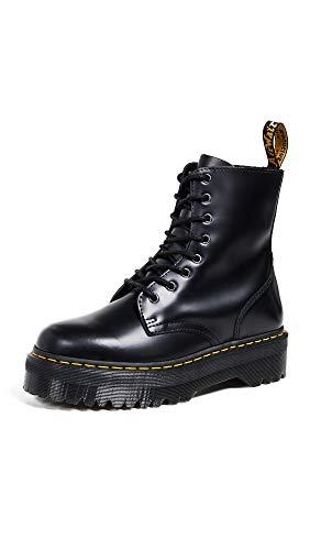 Dr. Martens, Jadon 8-Eye Leather Platform Boot for Men and Women, Black Polished Smooth, 8 US Women/7 US Men