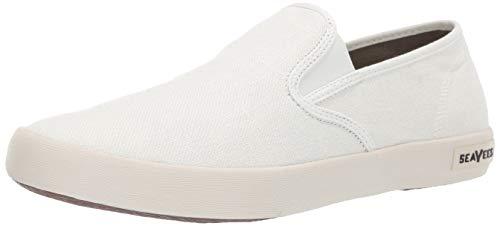 SeaVees Men's Baja Slip On Classic Sneaker, White, 11