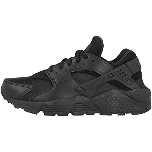 Nike Women's's WMNS Air Huarache Run Shoes, Black/Black, 6
