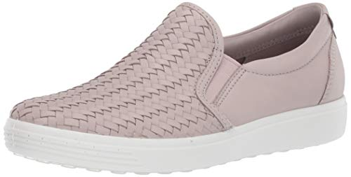 ECCO womens Soft 7 Woven Slip on 2.0 Sneaker, Grey Rose, 6-6.5 US