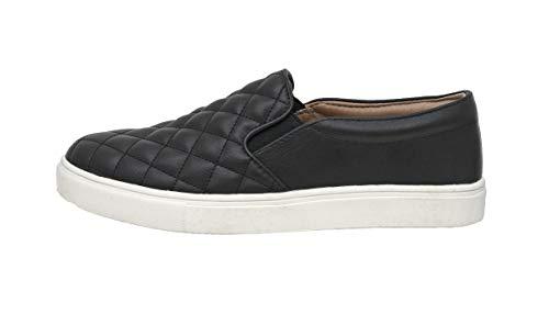 CUSHIONAIRE Women's Reena Comfort Quilted Sneaker, Black, 9