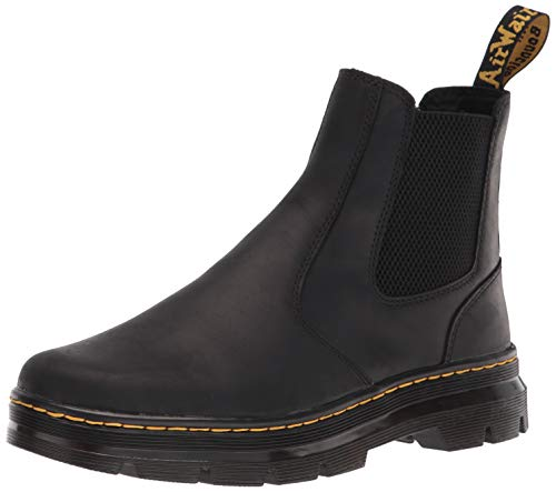 Dr. Martens unisex adult Chelsea Boot, Black Wyoming, 8 Women 7 Men US