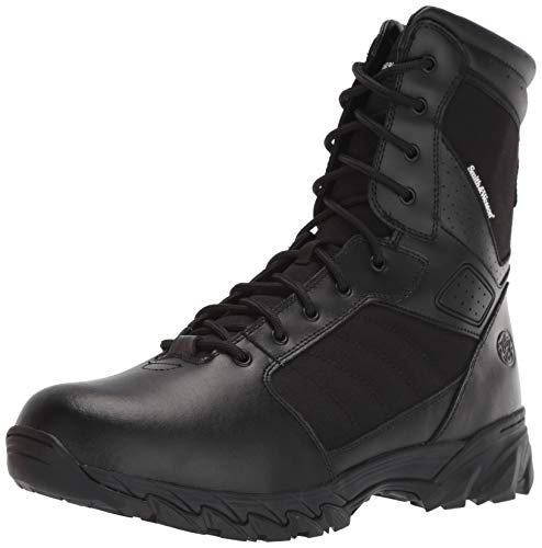 Smith & Wesson Footwear Men's Breach 2.0 Tactical Size Zip Boots, Black, 5
