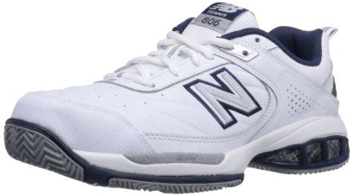 New Balance Men's 806 V1 Tennis Shoe, White, 9 XW US