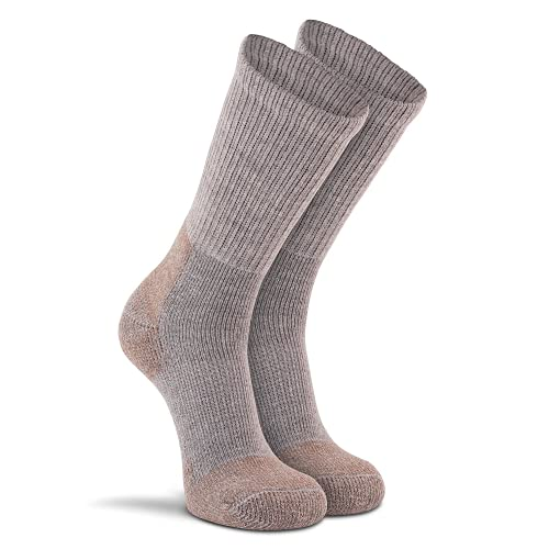 FoxRiver Steel Toe Crew Cut Work Socks for Men and Women 2 Pack Heavyweight Boot Socks with Moisture Wicking Fabric