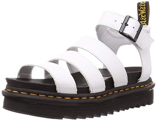 Dr. Martens Women's Blaire Sandal, White Hydro Leather, 8