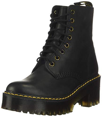 Dr. Martens Women's Shriver Hi Fashion Boot, Black Burnished Wyoming, 8