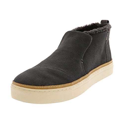 TOMS Women's Paxton Mid Cut Slip-on Forged Iron Grey Suede/Faux Fur 7.5 M