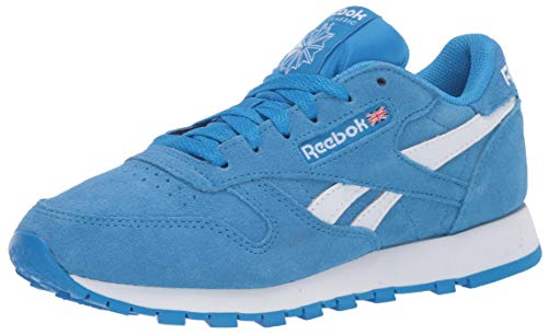 Reebok Men's Classic Leather Sneaker, Horizon Blue/White/White,8.5 M US