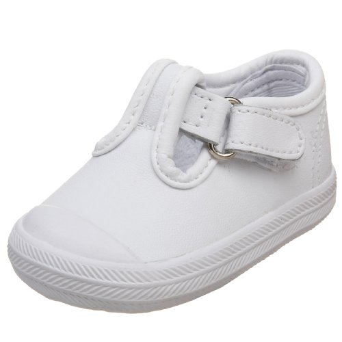 Keds Women's Champion Leather Sneaker, White, 7.5 Wide