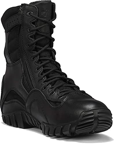 TACTICAL RESEARCH TR Men's Khyber TR960Z WP 8' Lightweight Waterproof Side-Zip Black Leather Work and Tactical Boot - Great for EMS, Law Enforcement, and Security Personnel, Black - 3 R