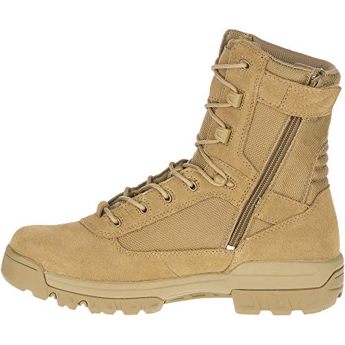 Bates Men's 8' Ultralite Tactical Sport Side Zip Military Boot, Coyote, 7