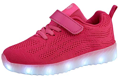 AoSiFu Kids Light Up Shoes Toddler Girls Boys Breathable Led Flashing Sneakers USB Charge