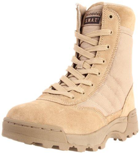 Original S.W.A.T. Men's Classic 9 Inch Side-zip Tactical Boot, Tan, 4 D US