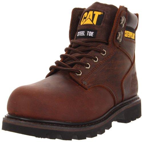 Caterpillar Men's Second Shift Steel Toe Work Boot, Dark Brown, 7 M US