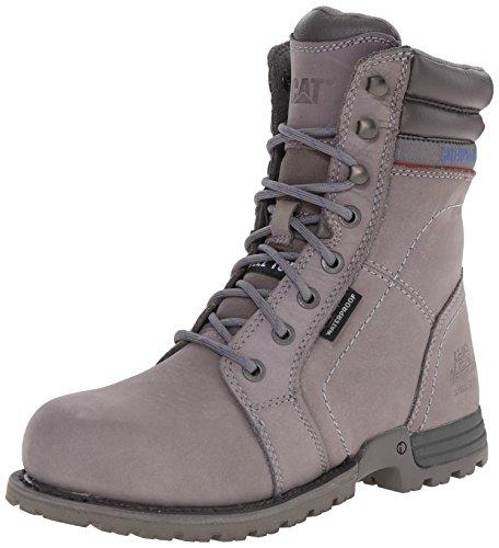 Caterpillar Women's Echo Waterproof Steel Toe Work Boot, Frost Grey, 5 M US
