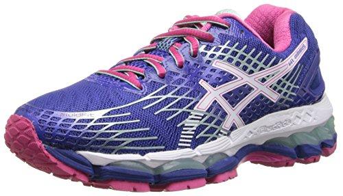 ASICS Women's Gel-Nimbus 17 Running Shoe,Deep Blue/White/Hot Pink,5 M US